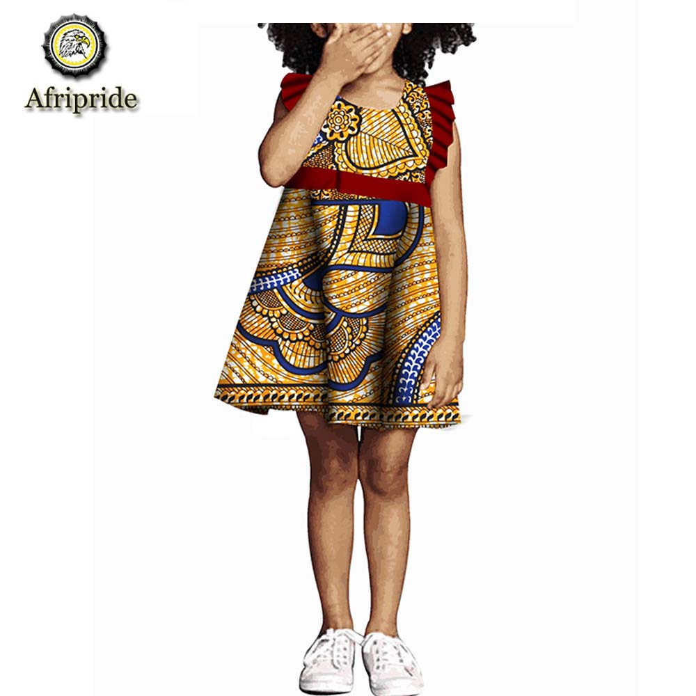 d0bd3627a1459f 2018~2019 African kids spring dress Children clothing 100% cotton wax  ankara print dashiki bazin riche AFRIPRIDE S1845006