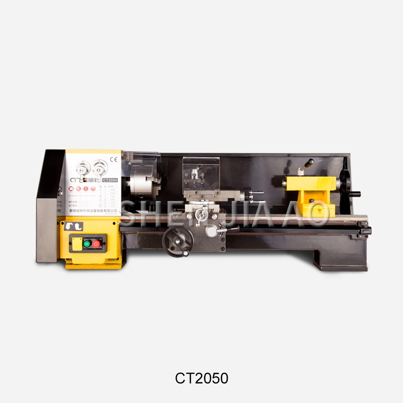 CT2050 High Precision Household Lathe Machine Desktop Multifunction Instrument Metal Lathe Laboratory Lathe Machine 220V 1PC