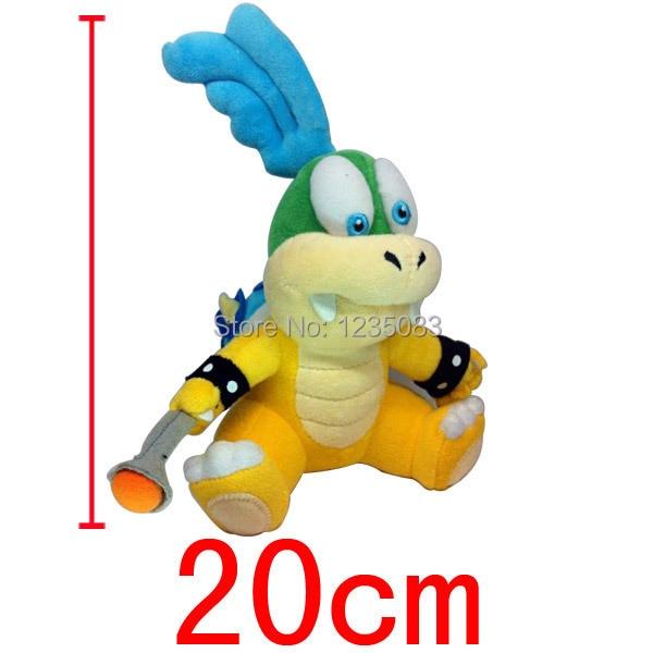 super mario bros LARRY Koopa koopa bowser koopalings 20cm soft plush doll toy DOLL Animal Doll For Kids Baby Gift(China)