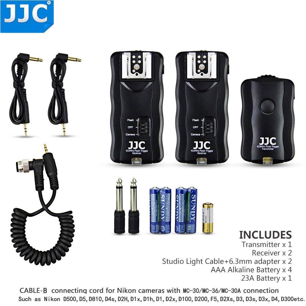 JJC Déclencheur Sans Fil Déclencheur À Distance pour Nikon D500 D5 D810 D4s D2H D1x D1h D2x D2Xs D3 D3s D3x D4 D300s D700 D800