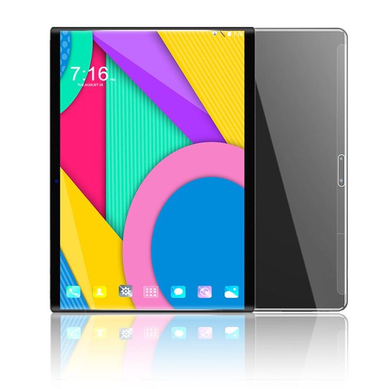 2019 nouveau chaud 10.1 pouces tablette pc Octa Core 6 GB RAM 64 GB ROM 8MP caméra 1280*800 IPS trempé écran incurvé Android 8.0 tablettes