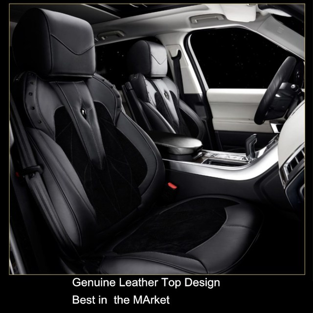 luxe classique conception v ritable si ge de voiture en cuir couvre pour range rover sport velar. Black Bedroom Furniture Sets. Home Design Ideas