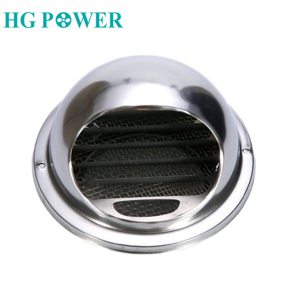 4''Stainless Steel Wall Ceiling Air Vent Ducting Ventilation Exhaust Grille Cover Outlet Heating Cooling & Vents Cap Waterproof
