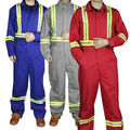 Customized Work Wear Safety Coverall Safety Clothing With Reflective Tape