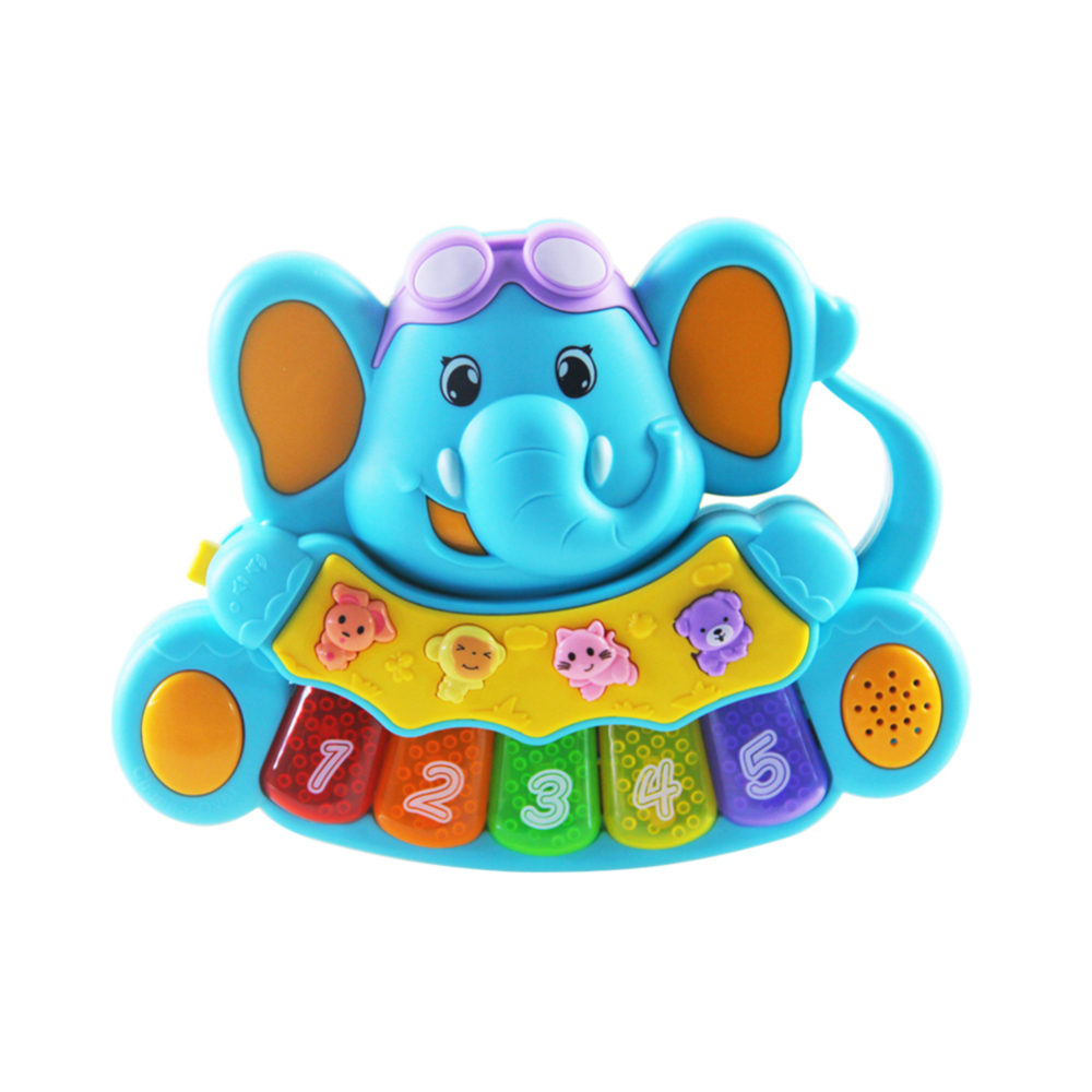 Baby Music Early Education Toy Musical Piano Elephant Model Kids Auditory Development Toy Auditory Development Toy Random Color