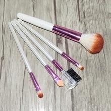 цена на 5pcs Hair Makeup Brushes Set Wood Handle Foundation Blending Powder Brush Cosmetic Beauty Make Up Tools