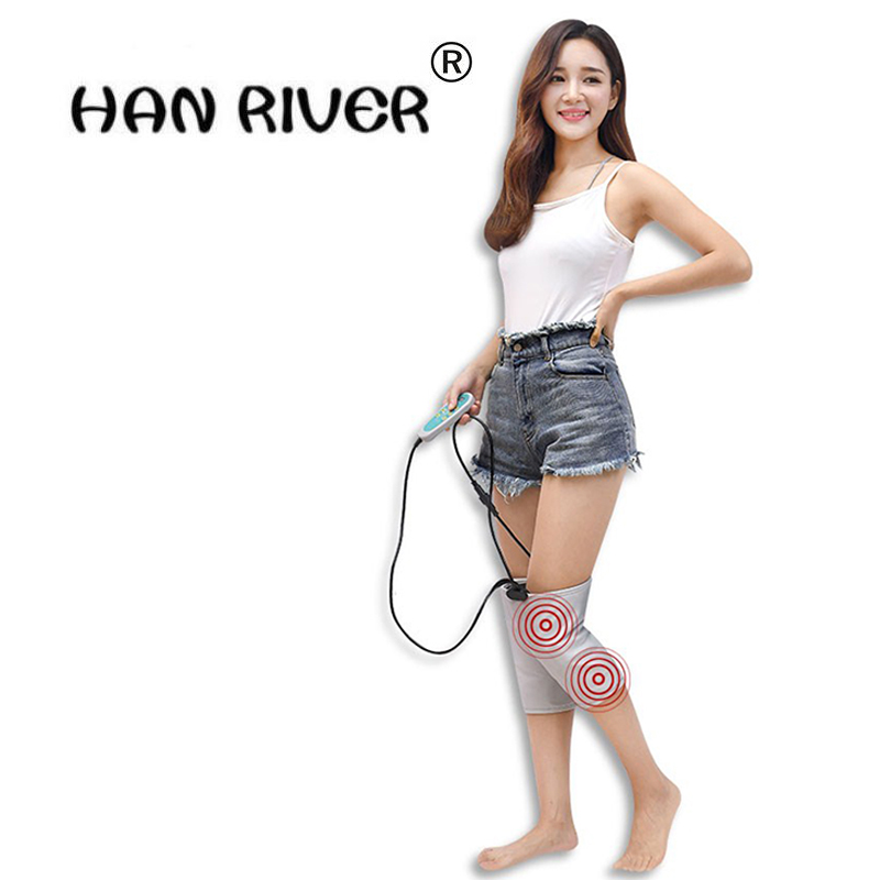 Health Care 1 Pair Vibrate massage to heat knee Pads moxibustion Hot compress Therapy Arthritis Rheumatism 220V 40W Adjustable electric knee massager belt leg knee joint moxa moxibustion hot compress rheumatism leggings field heating kneepad support brace