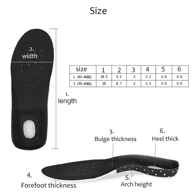 Orthopedic Arch Support Insoles Plantar Fasciitis Foot Care Silicone Gel Sport Shoes Pads for Men Women Running CushionFeet Care in Foot Care Tool from Beauty Health