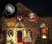 12Types Christmas Laser Snowflake Projector Outdoor LED Lamp Waterproof Disco Light Party Wedding Home Garden Star Stage Light