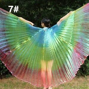 Image 1 - Nouveautés pas cher haute qualité égyptien femmes danse du ventre Costume Isis ailes livraison rapide en vente 3 ailes de couleur