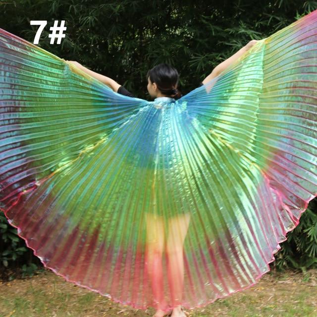 Nouveautés pas cher haute qualité égyptien femmes danse du ventre Costume Isis ailes livraison rapide en vente 3 ailes de couleur