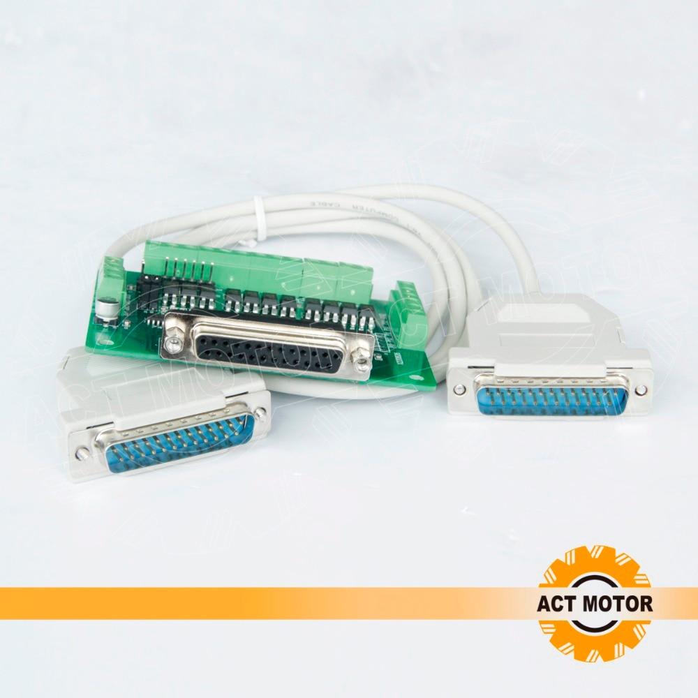 Livraison gratuite d'allemagne! ACT Motor 6 axes Interface Board (DB25) adaptateur CNC routeur moulin gravure Laser imprimante