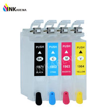 WF2532 T1971 T1962 T1963 T1964 tinta Isi Ulang cartridge Untuk Epson XP201 XP211 XP214 XP401 XP204 XP411 Printer Dengan ARC chip(China)