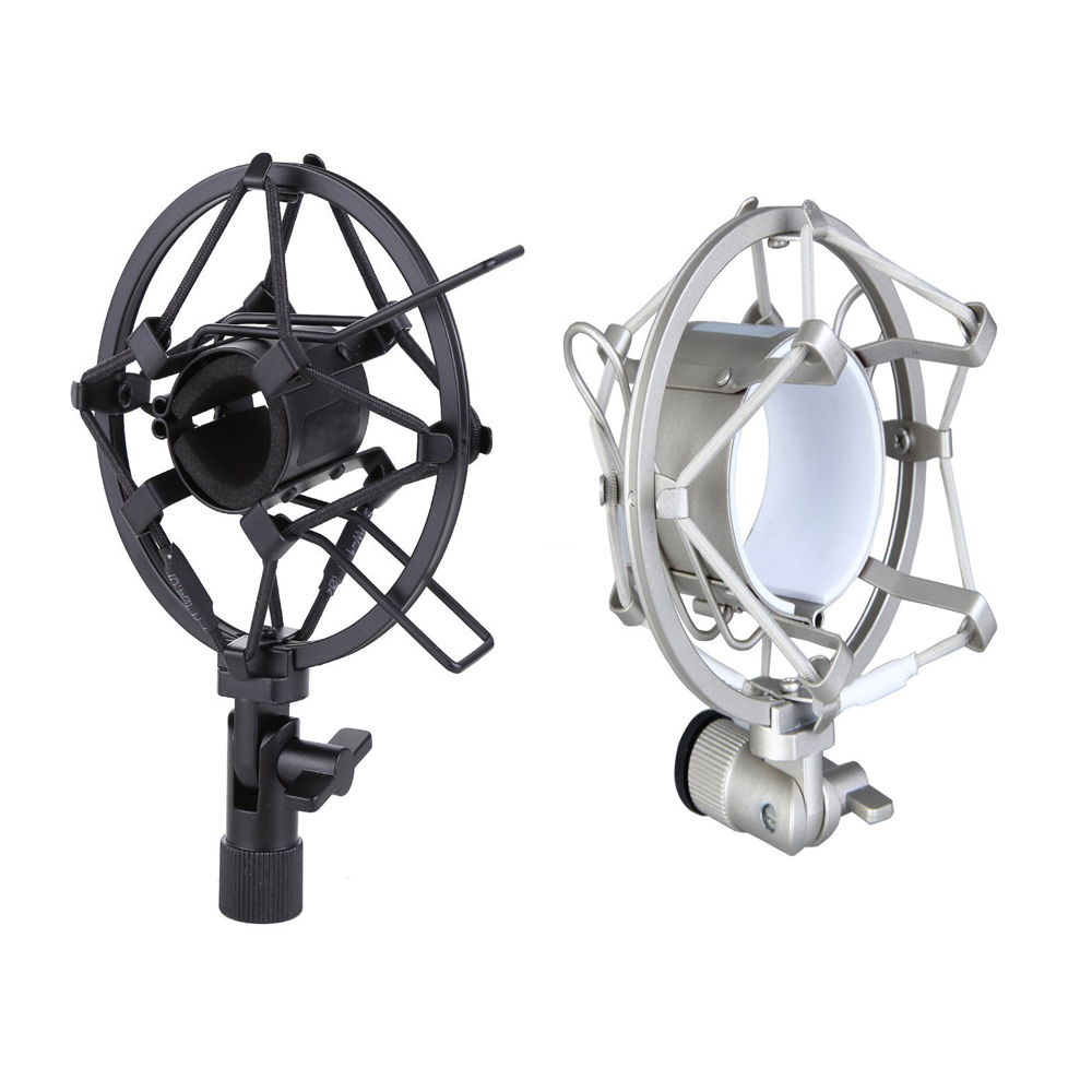 MAHA Microphone Shock Mount For Diameter Condenser Mic Black/Silver Fit for Most Large Diaphragm Condenser MicrophonesMAHA Microphone Shock Mount For Diameter Condenser Mic Black/Silver Fit for Most Large Diaphragm Condenser Microphones