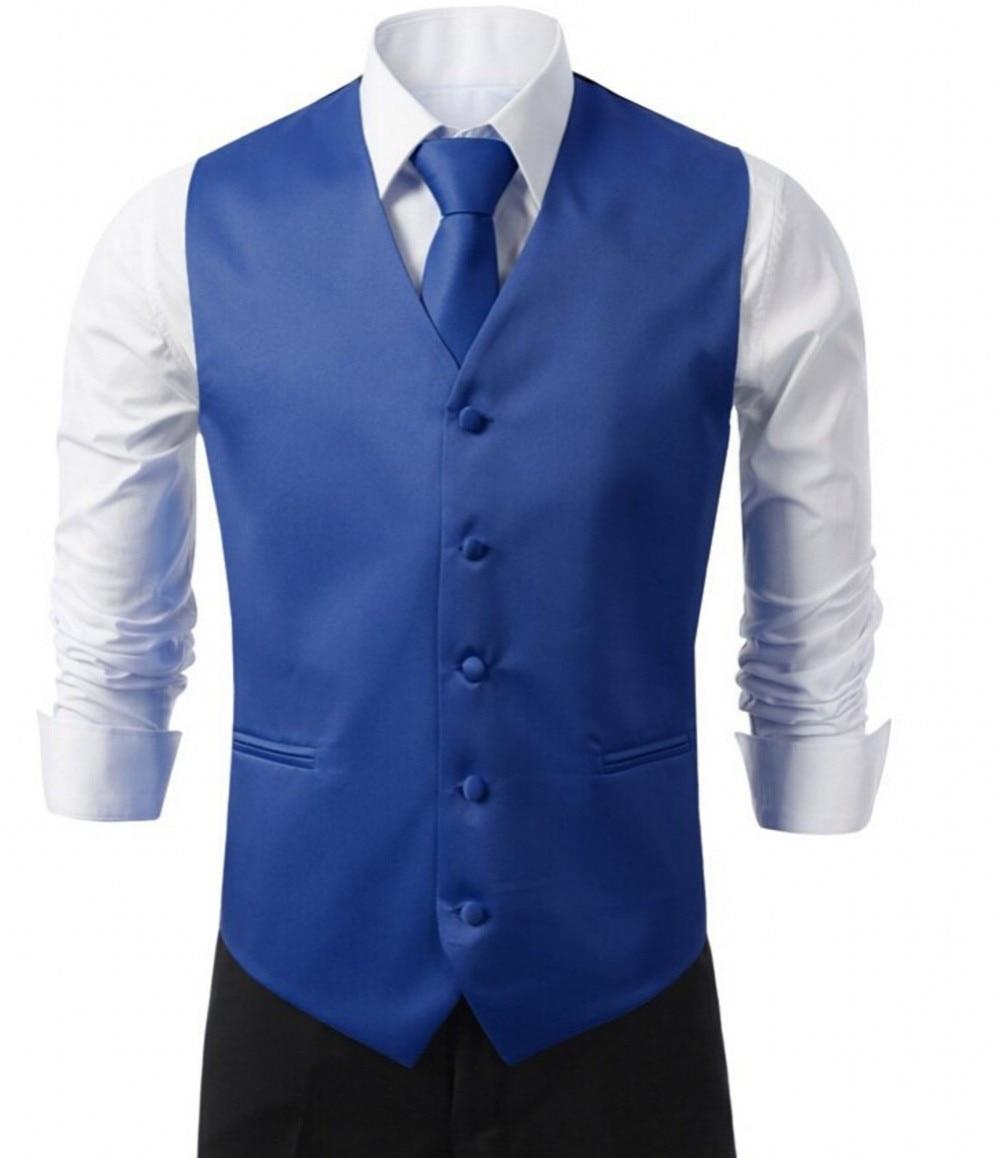 Custom made royal blue Formal Men's Waistcoat Groom Tuxedos Wear Bridegroom Vests Casual Slim Vest
