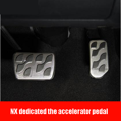 ФОТО Aluminum alloy gas pedal NX antiskid pedal brake pedal FOR Lexus NX200 NX200T NX300H CAR STYLING Auto parts Car modification