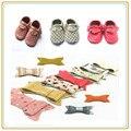 Atacado sapatos mocassim kinghoo e barato sapatos de bebê macios sola de couro genuíno