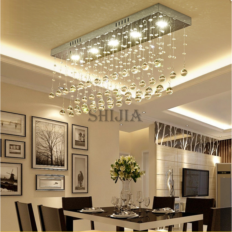 Contemporary LED Luster Crystal Chandelier Interior Curtain Wave ...