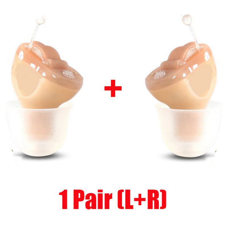 2PCS NEW CE FDA Small Iner Ear Osynligt hörselhjälpmedel CIC Mini Inside Ear Sound Amplifier Dropshipping