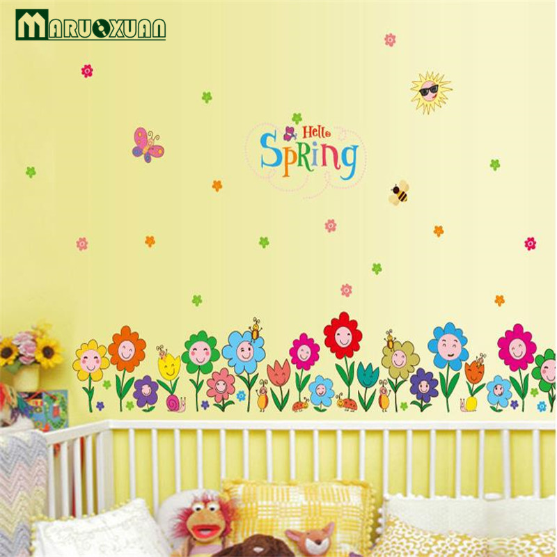 Factory Direct Small Flower Baseboard Children\'s Room Kindergarten ...