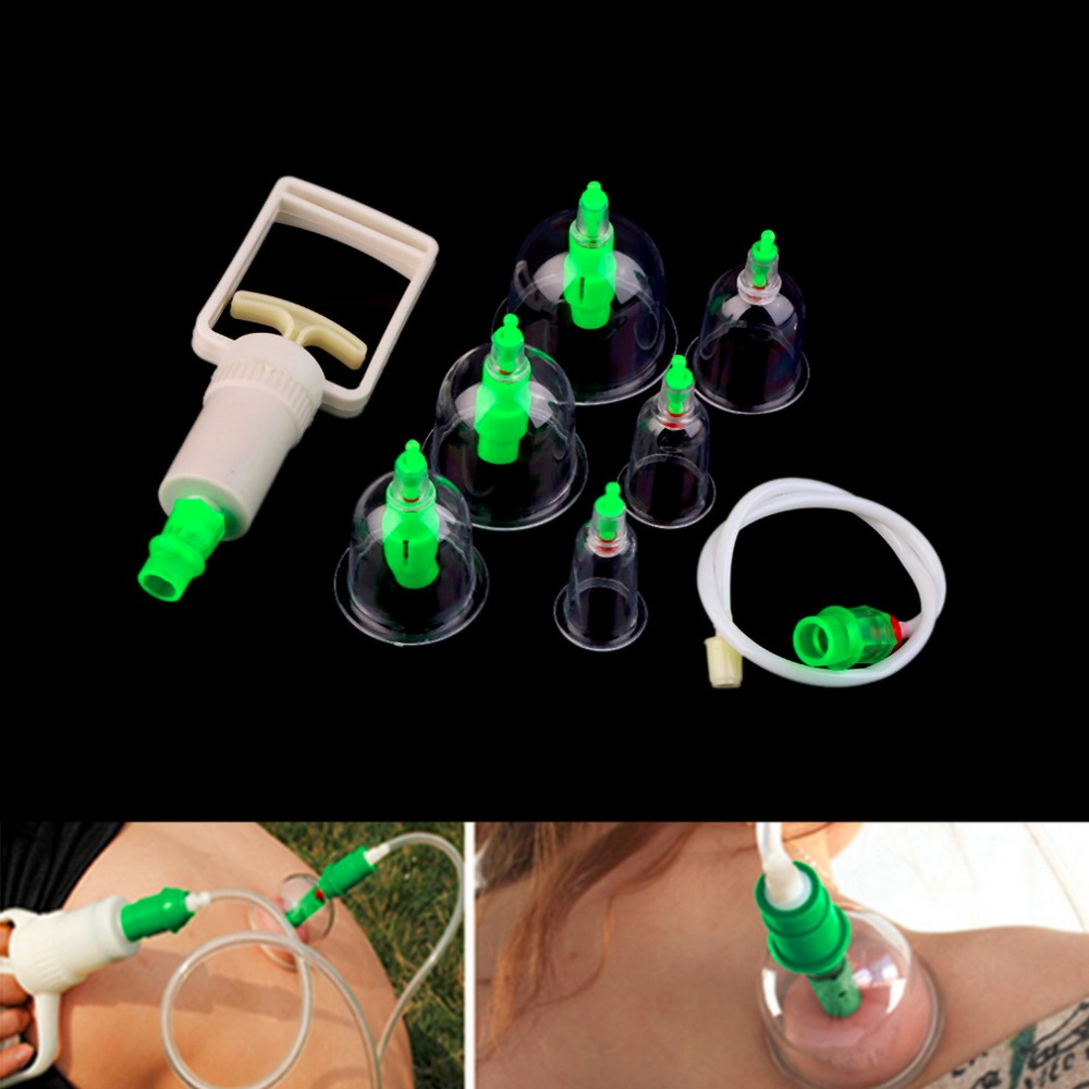 1 Set 6 Can Massager Health Monitors Products Can Opener Pull Vacuum Cupping of The Tanks Cutem Extractor Acupuncture Hot Sale