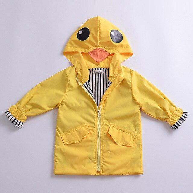 b5e6c3f59 Unisex Kids Animal Raincoat Cute Cartoon boys girls Jacket Hooded ...