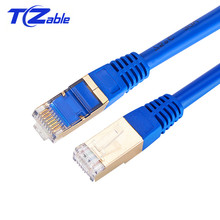 Cable Cat7 RJ45 Ethernet Cable Network Lan Cable For PS4 For Smart TV For Wireless Router Rj45 Cable Blue Black Gary1