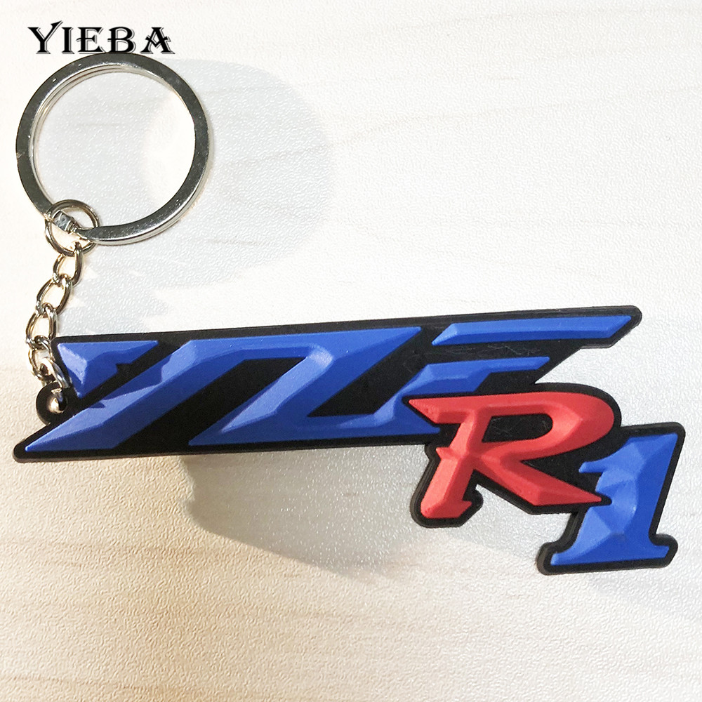 Motorcycle Key For YZF R1 R6 SUZUKI GSX-R HONDA CBR Model Creative Personality Engine Door Soft Rubber Car accessories buckle