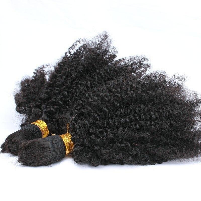 Cheveux de tressage humains en vrac pas de trame Afro crépus bouclés cheveux en vrac pour tresser les cheveux Remy mongols Crochet tresses Prosa cheveux