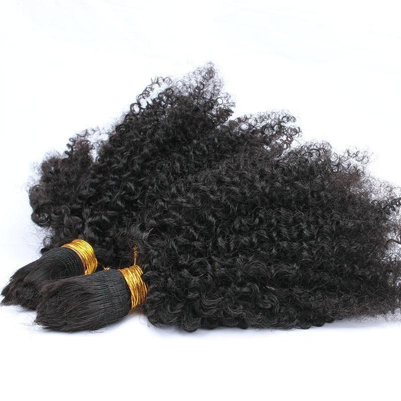 Umplere de păr în vrac fără vapori Afro Kinky Păr în vrac curl - Păr uman (pentru negru)