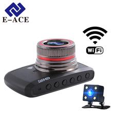 E-ACE Auto Wifi Mini Camera Recorder Car Dvr Mirror Video Registrator Car Camcorder Dash Camera Dual Lens Dashcam Automotive Cam