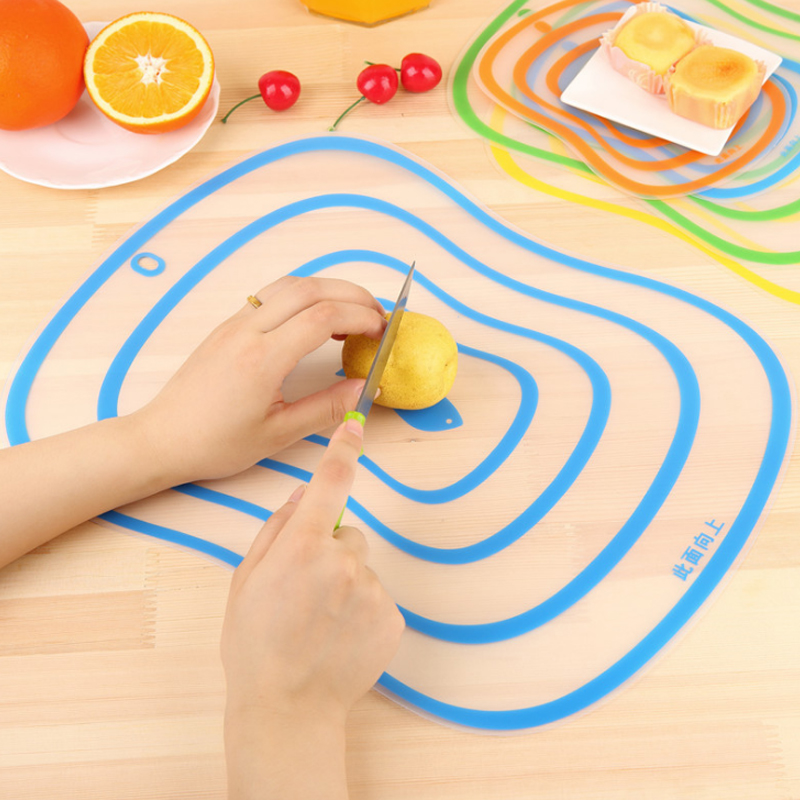 Resin matte cutting board plastic anti-skid transparent smooth fruit and vegetable cutting board household kitchen appliances