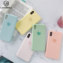 Lovebay Case For iPhone 7 8 6 6S Plus Candy Color Love Heart