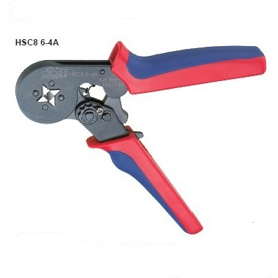 HSC8 6-4A 0.25-6mm2 23-10AWG Terminal Crimping Tool Bootlace Ferrule Crimper Wire end Cord end lug hsc8 6 6 24 10 awg 0 25 6 0mm2 terminal crimping pliers tongs clamp tool bootlace ferrules crimper wire cable cord end lug m25