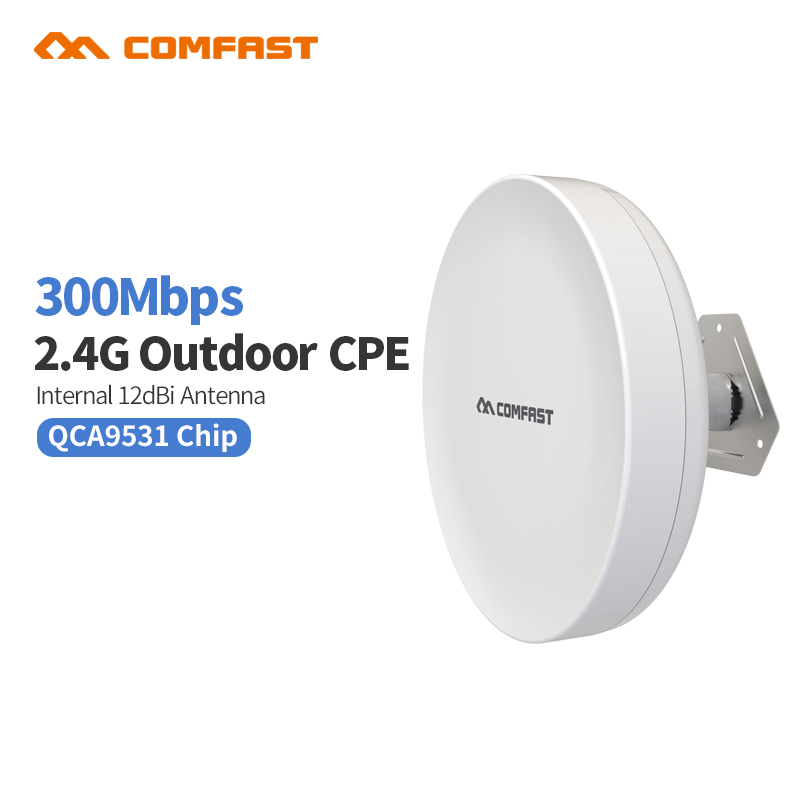 2.4Ghz 300Mbps Wireless Outdoor Access Point,Wi-Fi Repeater for Outdoor Long Distance Wifi Coverage,Easy Setup цена