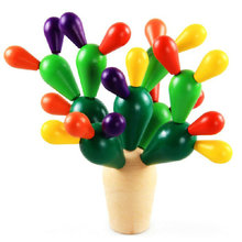 Exempt postage, early childhood educational, wooden toys, assembly splicing celestial being, changeful cactus toys