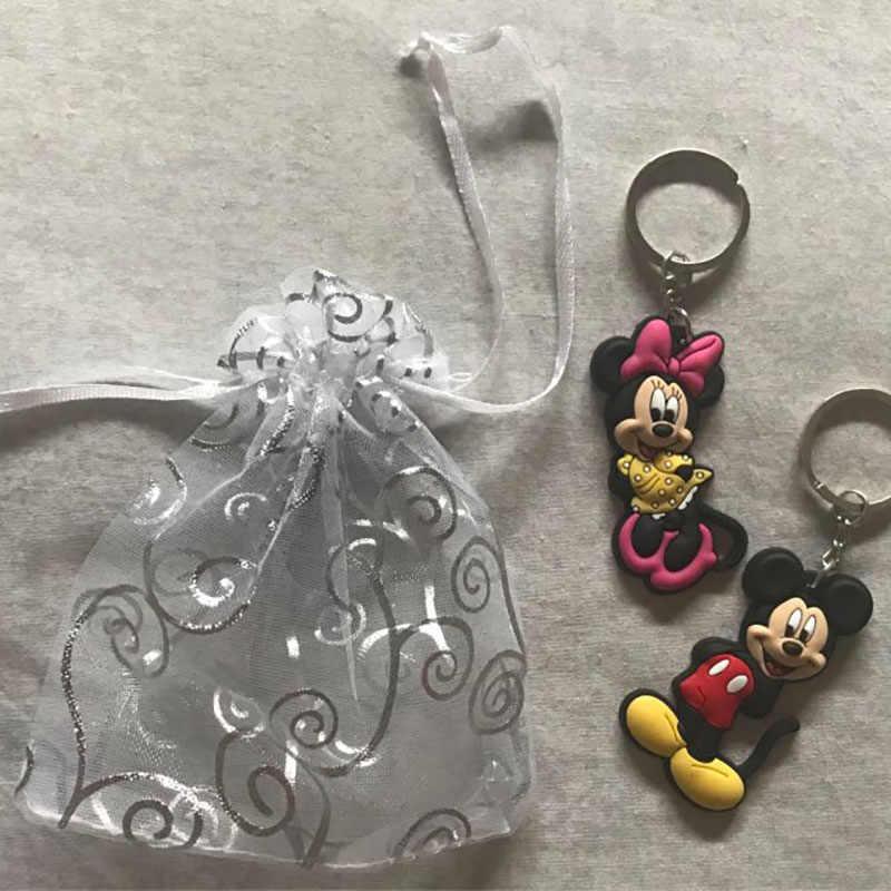 1 шт. Микки ПВХ мультфильм брелок мини-фигурка Аниме Минни брелок Детская игрушка подвеска брелок держатель для ключей модные подвески-безделушки