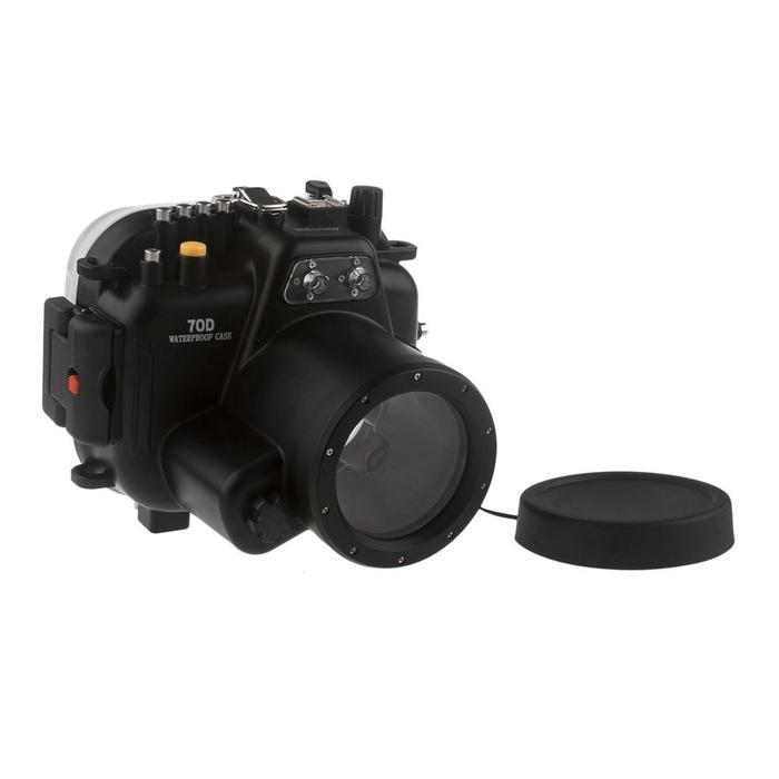 Бесплатная доставка DHL Meikon 40 м водонепроницаемый корпус для подводной камеры для объектива Canon EOS 70D 18-135 мм