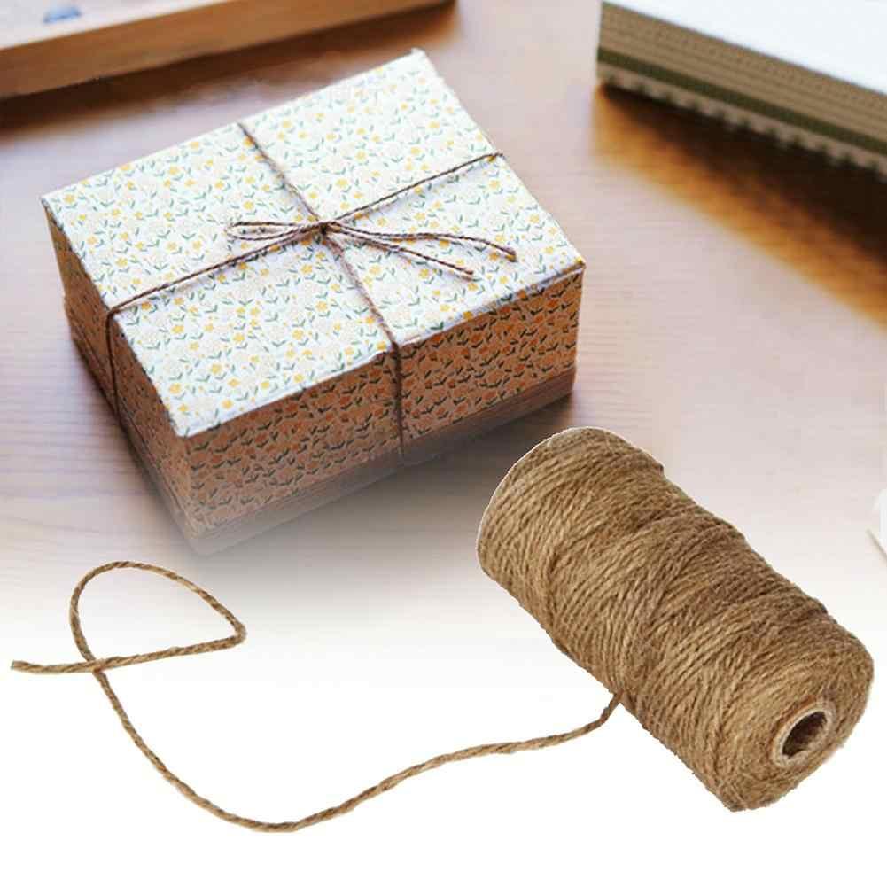 100m Soft Natural Diy Gift Decor Craft Jute Twine String Shabby Rustic Cord Aliexpress