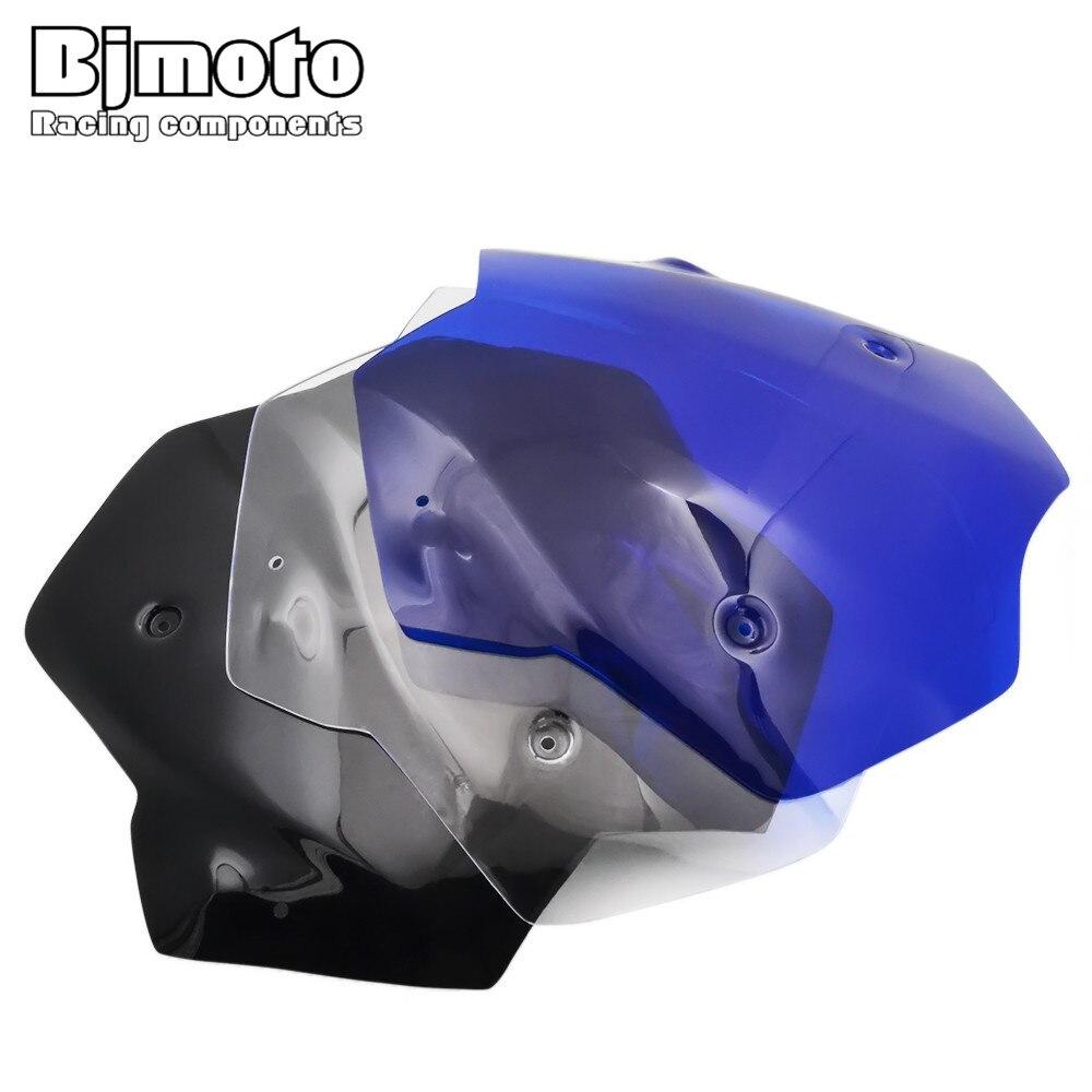 Bjmoto For Yamaha T-max 530 2012-2016 Blue Motorcycle Accessories Windshield Windscreen Pare-brise TMAX530 Tmax 530 windshield for kawasaki zr1100 zephyr zrx zr x 1100 1200 windscreen pare brise black motorcycle 7 round headlight