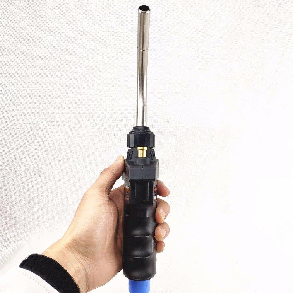 Image 4 - Mapp Torch Ignition Flame Brazing Gun CGA600 Burner Blowtorch Welding Quenching HVAC Plumbing Propane Gas Welding Torch-in Welding Torches from Tools