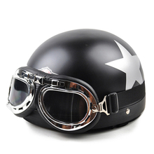 New Motorcycle Motorbike Riding Helmets Motocross Vintage Open Half Face Racing Helmet Visor Goggles Capacete for