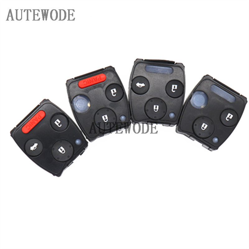 AUTEWODE Replacement Remote inner key shell for Honda Odyssey Accord Fit CRV Pilot key case No chip no remote(China)