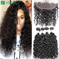 Lace Frontal Closure With Bundles Virgo Hair Company Brazilian Water Wave Virgin Hair With Frontal Annabelle Hair With Frontal