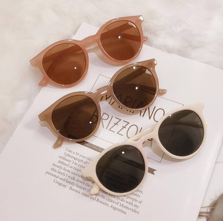 New Retro Sunglasses Trend Round Frame Female UV Protection Sunglasses