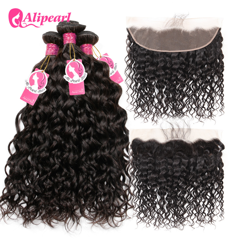 Human Hair Weaves Alipearl Hair Brazilian Body Wave 100% Human Hair 3 Bundles With Closure Brazilian Hair Weave Bundles With Closure Remy Hair Hair Extensions & Wigs