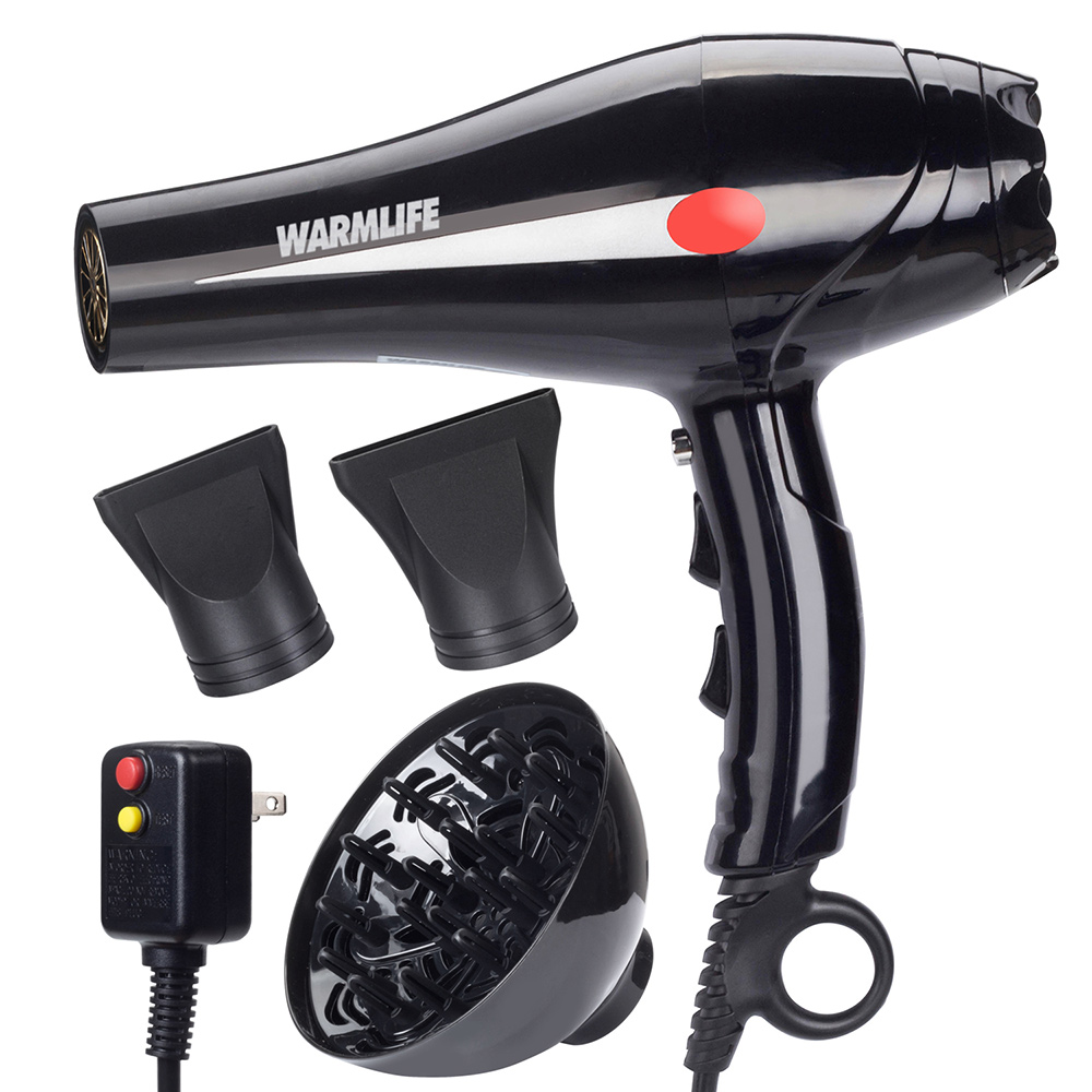 Warmlife 1875W Hair Dryer Professional Salon Powerful Ionic Blow Dryer Motor Styling Tool - 2 Speeds 3 Heat Settings