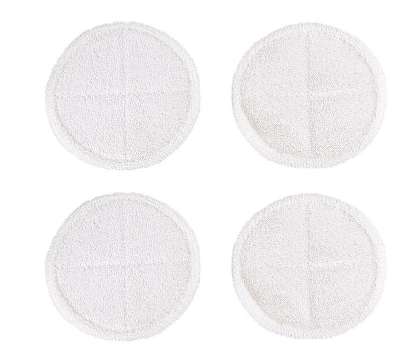 4 Packs Steam Soft Touch Mop Pads for Bissell Spinwave 2124 2039A Hard Floor Washable sweeping Pad mopping cloth replacement