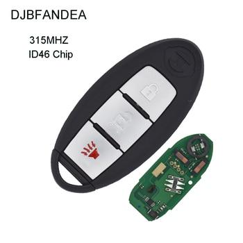 DJBFANDEA 3PCS/LOT 3Buttons ID46 Chip 315MHz Smart Remote Car Key For NISSAN CWTWB1U771 March Sunny Tiida Livina Sylphy
