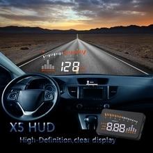 """3 """"Barato Exibição Hud HUD Head Up Display carro Estilo Do Carro Aviso Excesso de velocidade Sistema de Brisa Hud Projetor Interface OBD2"""